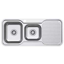 Everhard Classic Standard 1080 1TH Left Hand 1.75 Bowl & Drainer Kitchen Sink