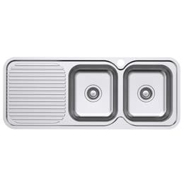 Everhard Classic Standard 1180 1TH Right Hand 2 Bowl & Drainer Kitchen Sink