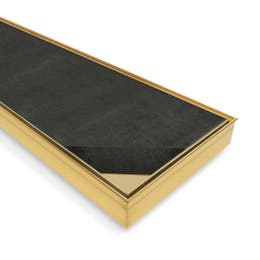 Forme PVD Stainless Steel Floor Grate - Tile Insert Brushed Gold (85mm Waste)