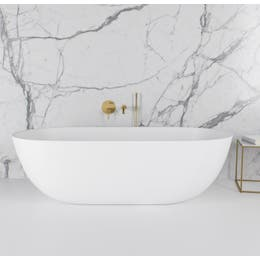 Vizzini Alberta Free Standing Stone Bath 1780mm (L) x 900mm (W) x 500mm (H)