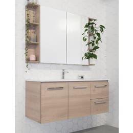 ADP Glacier Ceramic Twin Wall Hung Vanity