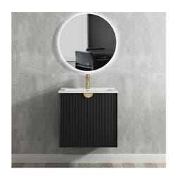 Marlo Matte Black Wall Hung Vanity 600mm (L) x 460mm (D) x 550mm (H)