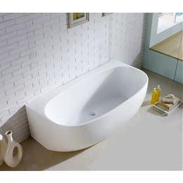 Vizzini Isola Back To Wall or Corner Freestanding Bath 1400mm (L) x 800mm (W) x 580mm (H)
