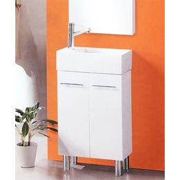 Ensuite Compact Vanity on Legs 480mm (L) x 240mm (D) x 900mm (H)