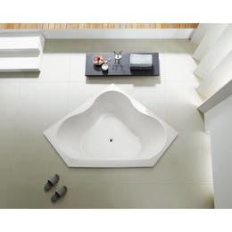 Vizzini Clove Corner Drop In Spa Bath 1300 (L) x 1300mm (W) x 570mm (H)