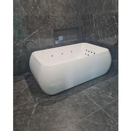 Vizzini Premium Double Deluxe Freestanding Spa Bath 1790mm (L) x 1110mm (W) x 590mm (H)